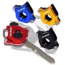 Tampa para chave de moto acessórios cnc, cabeça de chave de decoração para yamaha nmax 155 150 125 nmax155 nmax125 nmax150