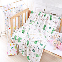 Double Layer Pure Cotton Muslin Blanket Print Floral Baby Bedding Bath Towels Blankets Newborn For Babies Swaddle Wrap Receiving(China)
