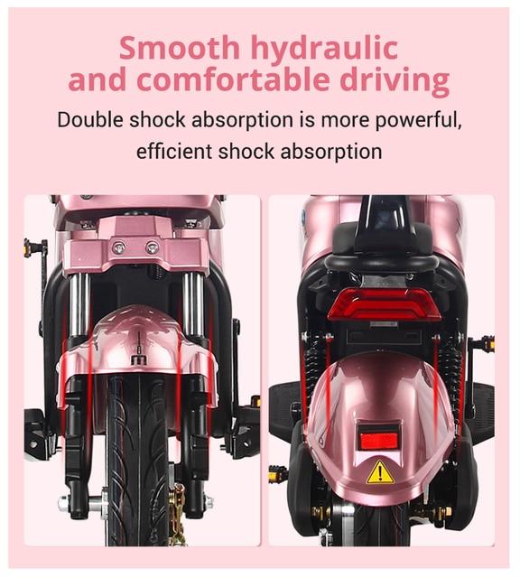 BENOD Motocicleta Eléctrica CE Cert Moto Eléctrica Fast High-power Energy-saving Electric Motorcycle Moto Moped Bicycle EU Trans 2