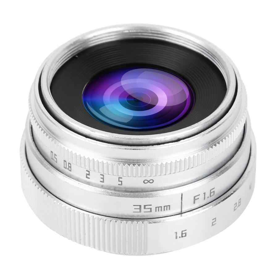 35 мм F1.6 CCTV C Mount большая апертура объектива для sony NEX для M4/3 для Fujifilm Fuji для Canon для Nikon камера Универсальная 2 цвета