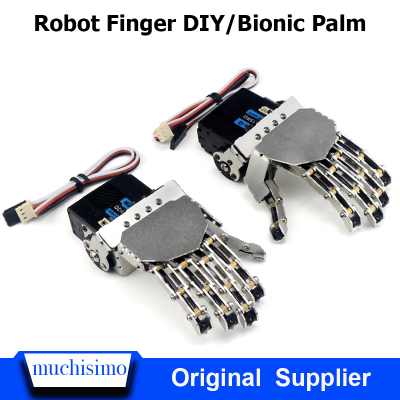 Robot Finger DIY Bionic Palm Mechanical Hand Claw Linkage Steering Gear Control Education Training Robot Finger AI