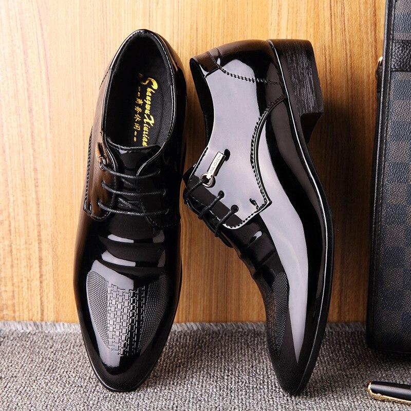 Mazefeng hombres zapatos de boda de microfibra de cuero Formal de negocios puntiagudos para Hombre Zapatos de vestir Oxford planos de talla grande 38-48