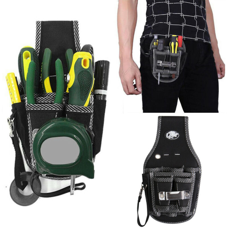 2020 Protable Drill Screwdriver Utility Kit Holder Top Quality Nylon Fabric Tool Bag Electrician Waist Pocket Tool Belt Pouch