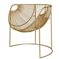 Metal FrameIron Leisure Chair Modern Simple Creative Iron Chair Household Living Room Lazy Single Study Balcony Golden Chair