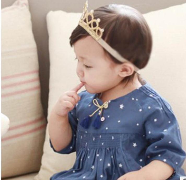 CYSINCOS Infant Photograph Prop Cute Baby Girl Crown Hairwear Baby Princess Hairband Children Headband Newborn Hair Decoration