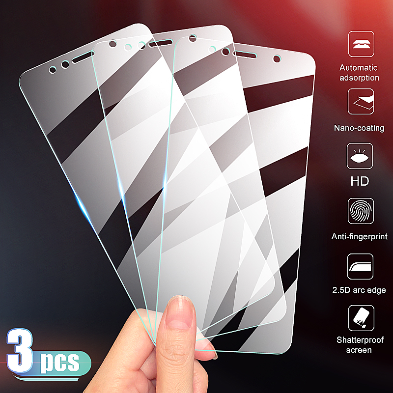 3-1Pcs Tempered Glass For Huawei Honor 7A 7C 7S 7X Screen Protector Glass On The Honor 9X 8X 8S 8A 8C 9H Protective Glass Film
