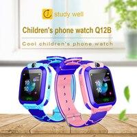 최신 Smartwatch Q12B 키즈 스마트 시계 전화 시계 생활 방수 LBS 위치 추적기 S0S SIM 전화 시계