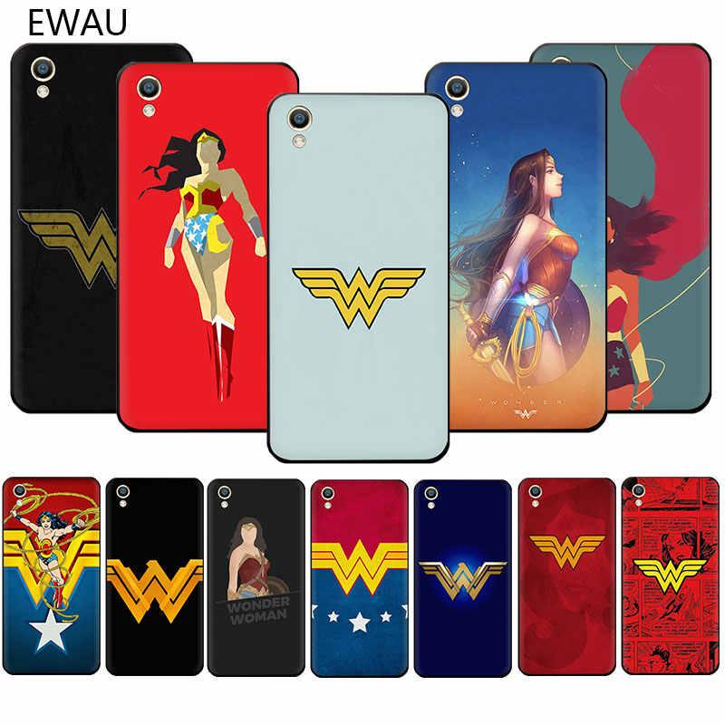 EWAU Wonder Woman โลโก้เคสโทรศัพท์ TPU นุ่มสำหรับ OPPO R17 R15 F11 Pro R11 R9 S A77 A73 A83 a7 A37 A59 A5