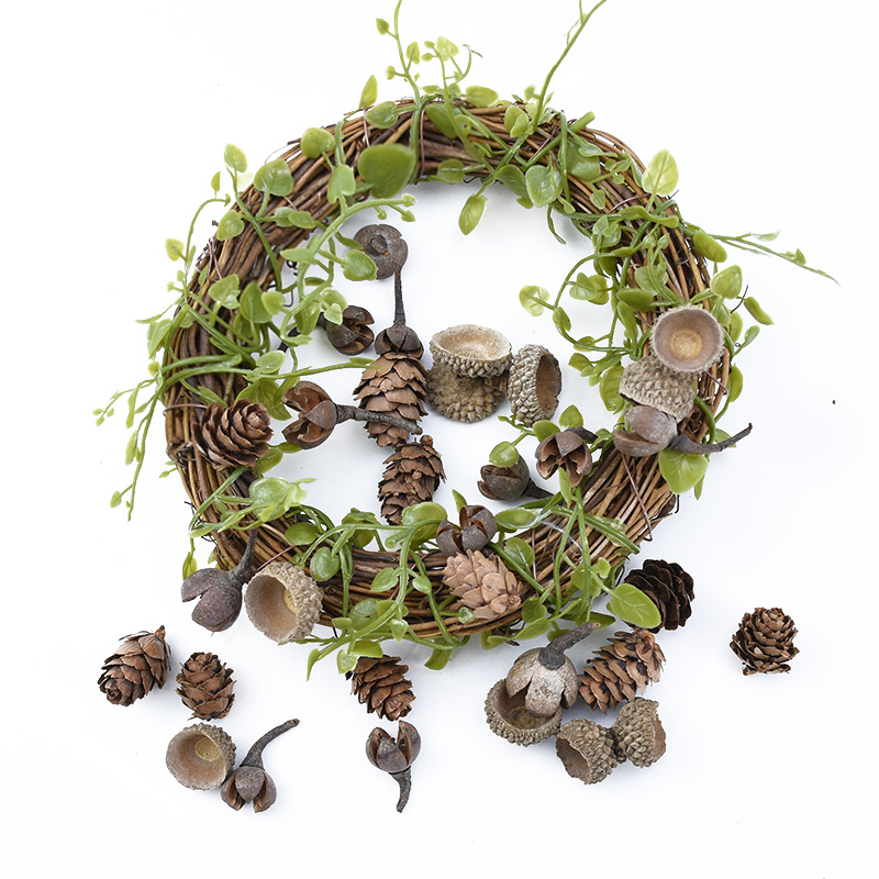 20pcs Natural Dried flowers Pine cone Acorn wholesale Artificial Flower For Home Christmas DIY Garland Wreath wedding Decoration 4