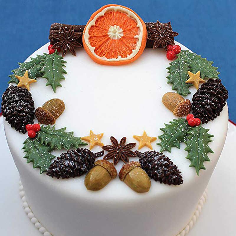 Orange Bumbu Kayu Manis Pola Fondant Cetakan Silikon Permen Cokelat Makanan Penutup Kue Alat Kue Dekorasi Alat