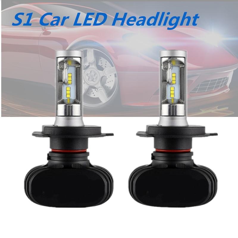 2Pcs CSP H8 H11 Lamp H4 Led H7 H1 H3 Light Car Headlight Bulbs For Auto S1 H27 881 HB3 HB4 Led Automotive 12V 50W 8000LM 6500K