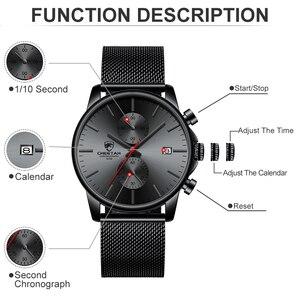 Image 3 - Top Luxury Brand Men zegarki biznesowe chronograf wodoodporny analogowy zegarek na rękę kwarcowy pełny stalowy męski zegar Relogio Masculino