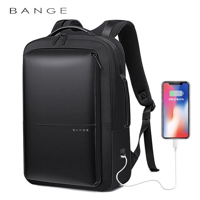 BANGE Professional Men Business Backpack Waterproof Travel Backpack 15.6'Laptop Backpack School Bag Office Men Backpack 1