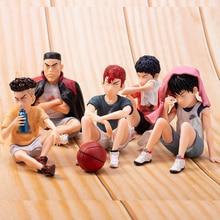 5 adet Anime SLAM DUNK Sakuragi Hanamichi PVC aksiyon figürleri Rukawa Kaede Akagi Takenori Mitsui Hisashi koleksiyon Model oyuncaklar 10cm