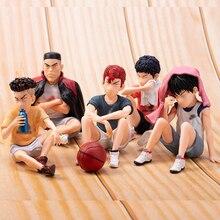 5pcs אנימה סלאם דאנק Sakuragi Hanamichi PVC פעולה דמויות Rukawa קאאד אקאגי Takenori Mitsui היסאשי אוסף דגם צעצועי 10cm