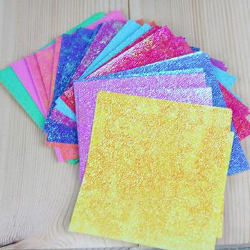Papier Origami jednej stronie błyszczące kwadratowy składany dla dzieci prezent dla dzieci jednolity kolor Handmade 50 sztuk 5 dla każdego kolorowe do DIY Scrapbooking rzemiosło tanie i dobre opinie Paper
