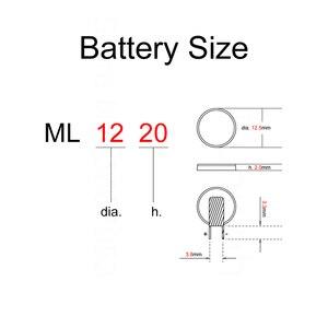 Image 2 - Piles au Lithium ML1220 avec 2 broches plates 3V manganèse Li ion batterie bouton Rechargeable ML 1220 remplace CR1220