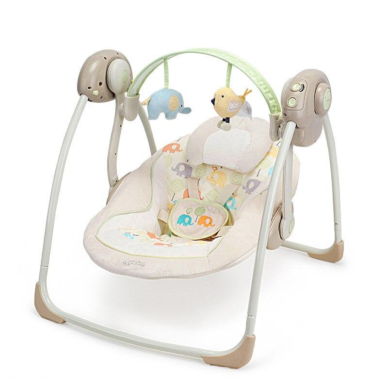 Bebê recém-nascido multi-função música elétrica balanço dormir
