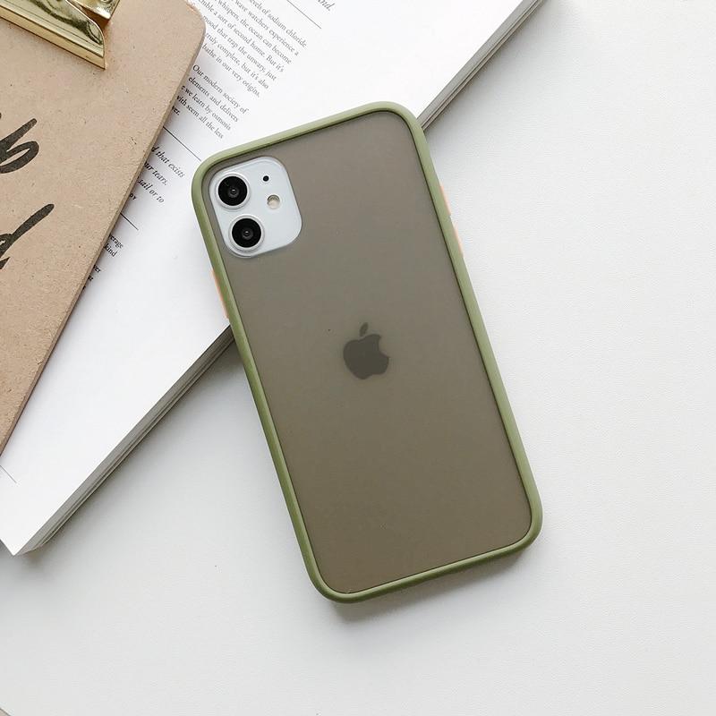Прозрачный противоударный чехол для телефона для iPhone 11 Pro X XR XS Max 6 6s 7 8 Plus, чехол-бампер, силиконовая матовая прозрачная задняя крышка - Цвет: D