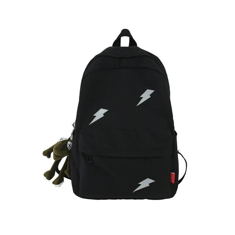 Student Wild Large-capacity Schoolbag Backpack Reflective Tooling Bag Fashion Backpack Harajuku University Backpack Backpack