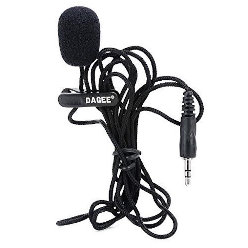 Петличный микрофон с разъемом 3,5 мм, 2 м, гарнитура для микрофона, высококачественный портативный мини-микрофон для записи, обучения речи