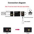 RCA аналого-цифровой оптический Toslink коаксиальный аудио конвертер адаптер с оптическим кабелем конвертер SPDIF цифровой аудио декодер