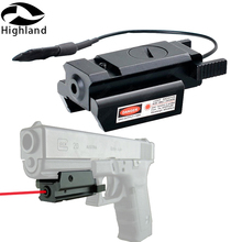 450m Hunting Tactical 20mm Picatinny Rail Mount with Pressure Switch Red Dot Laser Sight Scope for Most Pistol Rifles