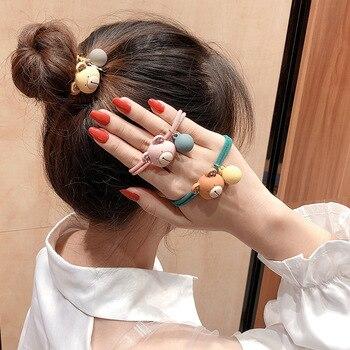 New Cute Bear Hair Bands Elastic Hair Band Female Adult Rhinestone Ponytail Holder Headbands For Women Girls Hair Accessories 2