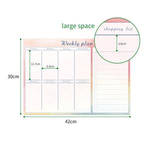 Image 2 - 42x30cm manyetik haftalık planlayıcısı beyaz tahta buzdolabı mıknatısı esnek günlük çalışma çalışma planı zaman çizelgesi organizatör mesaj panosu