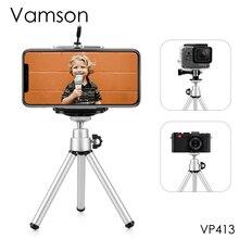 Vamson для Go Pro аксессуары мини масштабируемый монопод Штатив для GoPro Hero 8 7 6 5 4 3+ для Sj4000 для Xiaomi для Yi камеры VP413