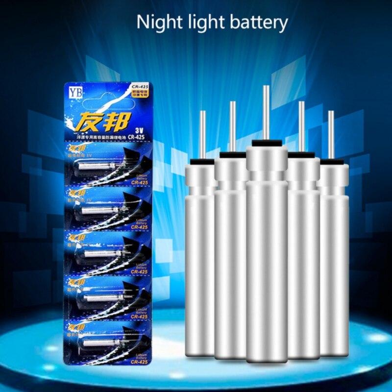 5pcs/set CR-311/CR-322/CR-425/CR-435 Batteries Fishing Float Electronic Tackle Accessories Fishing Float Battery Lithium EKN98