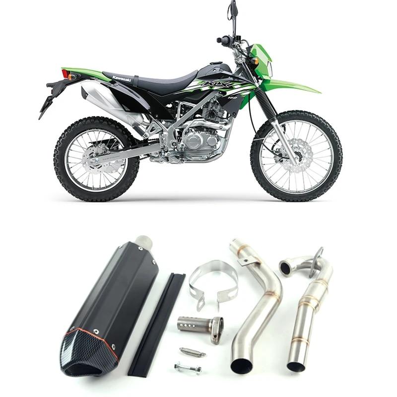 motorcycle modification off road vehicle exhaust escape klx 150 pipe klx150 front klx150bf klx150l muffler