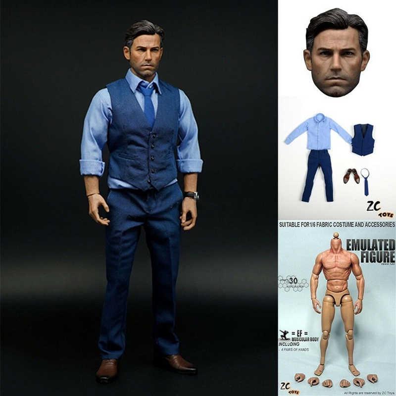 ZCtoys Superman VS Batmen Model Custom Coat Suit F 1//6 Scale 12/'/' Action Figure