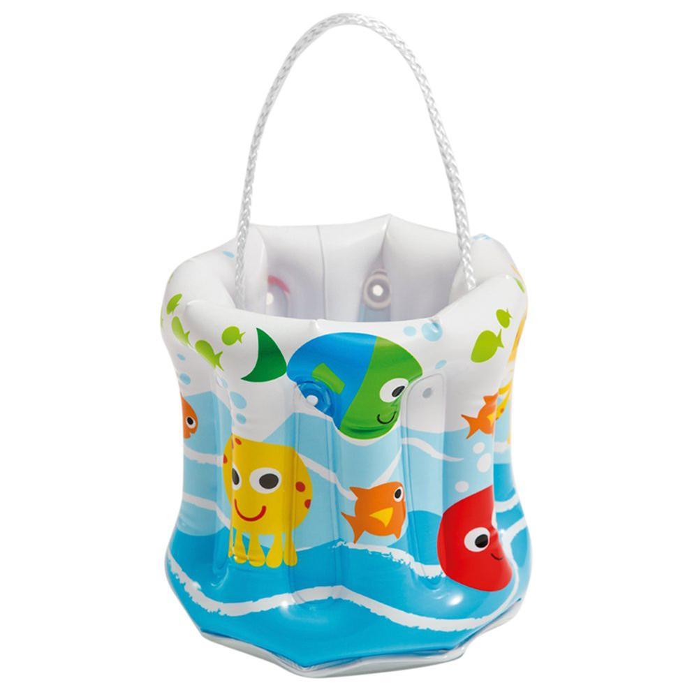Inflatable Bucket Bag PVC Transparent Bottom Summer Beach Toys Inflate Swimming Pool Toy For Outdoor Camping Cooking Water Bags|Outdoor Tools| |  - title=