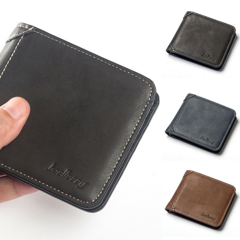 2019 Fashion Business Men´s Bifold Coin Pocket Leather Wallet ID Credit Card Money Holder Wallet New