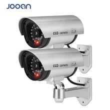2PCS Dummy Fake Camera CCTV Surveillance Camera Shop Home Security LED Light Simulation Camera Waterproof Outdoor Camera