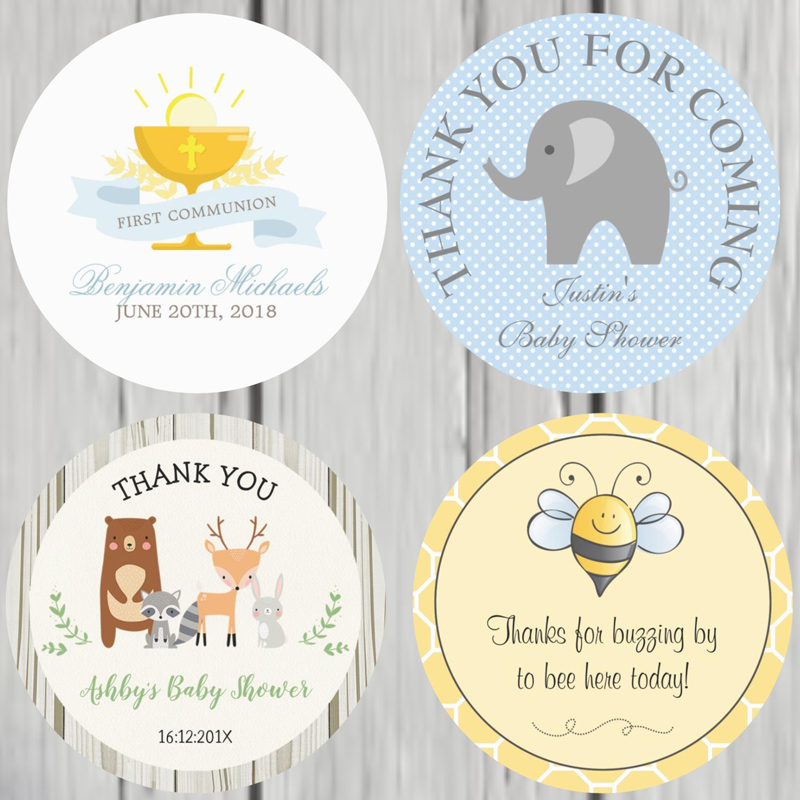 100 Pieces, 3-7CM, Custom Personalized, Girl First Communion Stickers, Personalized First Holy Communion Favor Labels