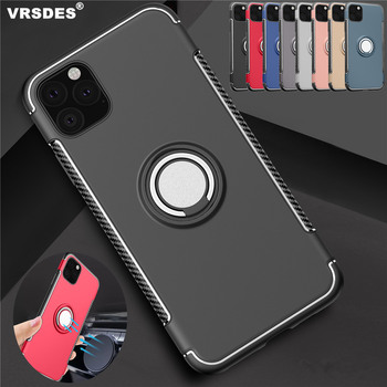 Luxury Car Holder Ring Case On The For iPhone 11Pro MAX 6.5 11 6.1 11Pro 5.8 Shockproof Cover For iPhone 11 Pro MAX 6.5 6.1 5.8 image