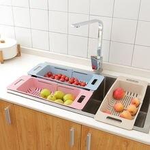 Регулируемая сушилка для посуды пластиковый держатель фруктов