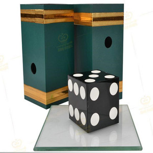 Dice Penetration Glass Impossible Die Penetration,Stage Magic Tricks,Illusions,Mentalism Magia Props, Magician(China)