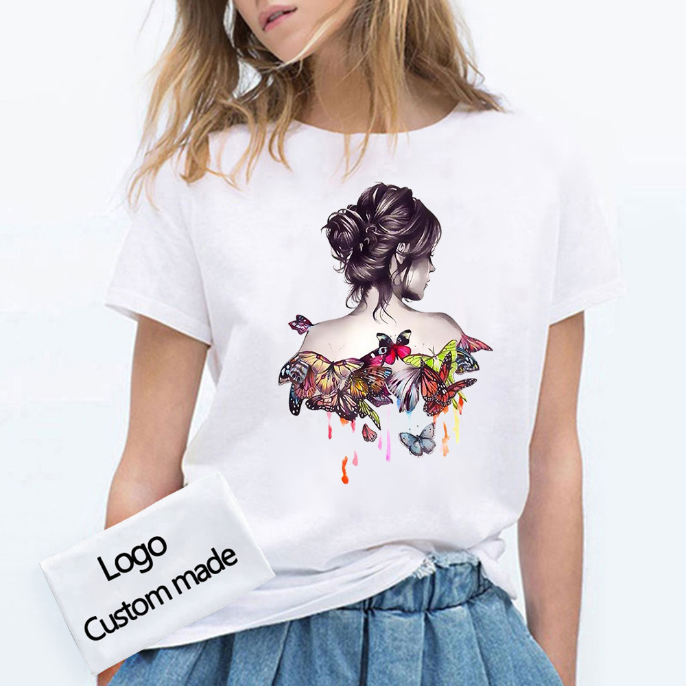 Your OWN Design Logo/Picture Custom Men and women DIY Cotton T shirt Short sleeve Casual T-shirt tops Size S-4XL 1