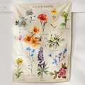 Botanische Wildflower Tapisserie Wandbehang Blume Referenz Diagramm Hippie Bohemian Wandteppiche Bunte Psychedelic INS Wohnkultur