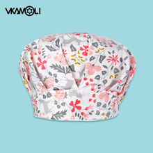 Clearance Pattern Scrub Cap Printing Working Hat 100% Cotton Women Men Beautician Dust Proof Cooking Chef Caps Bouffant Hats
