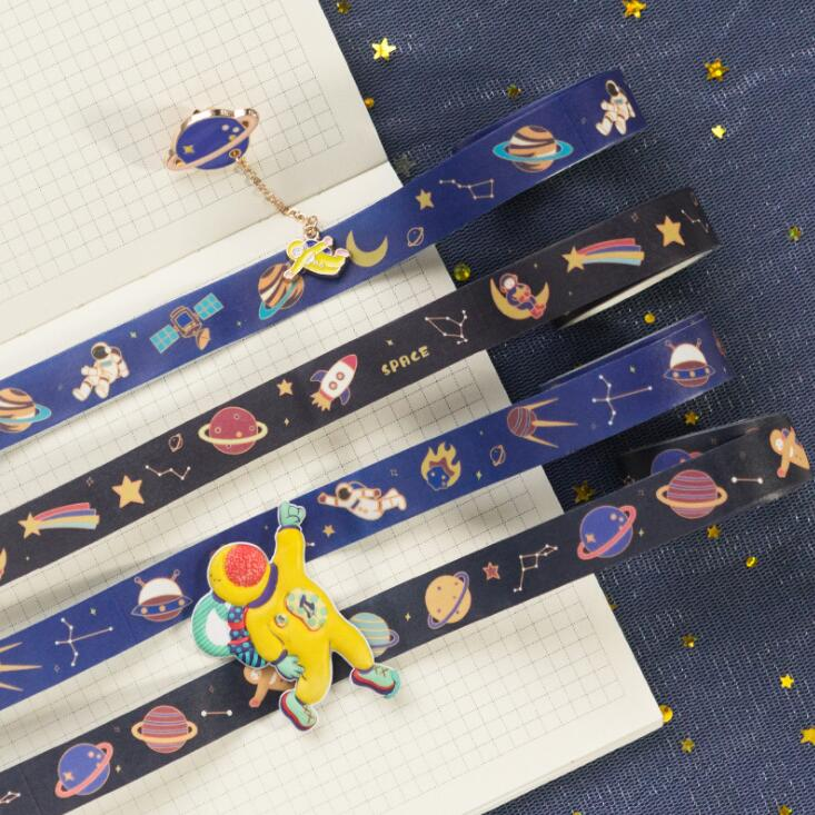 2020 Sharkbang Ins Style Flower Starry Sky Star Scrapbooking Washi Adhesive Tape Planner Decorative DIY Tape Sticker Stationery
