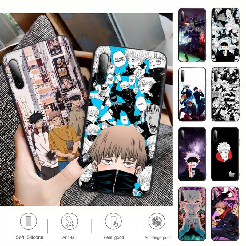 Jujutsu Kaisen Black Silicone Mobile Phone Case Cover For Samsung Galaxy S9 S10 S20 S21 S30 Plus Ultra S10e S7 S8