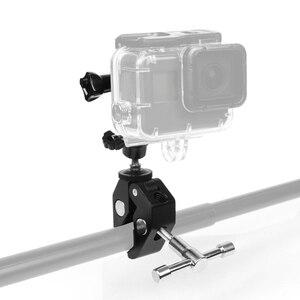 Image 1 - Silah balıkçılık çubuk yay ok sopa sabit klip tutucu GoPro Hero 7 6 5 4 3 SJCAM Eken eylem kamera