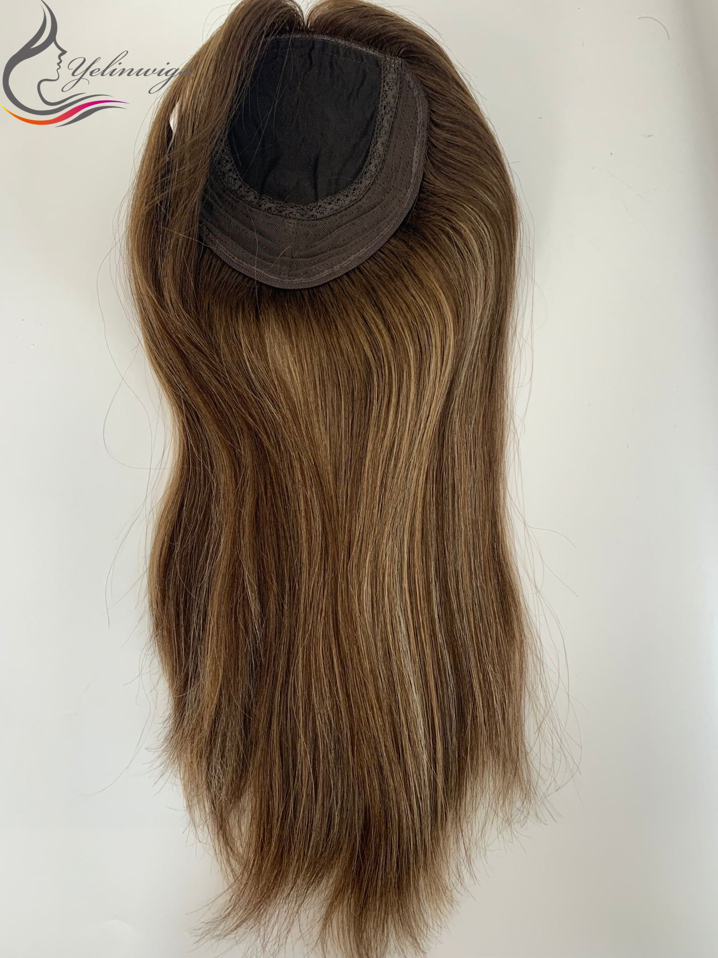 Highlight 16 Inch European Virgin Hair Topper Women Hair Pieces Best Selling Kippah Fall Whopper In Stock