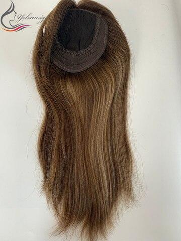 Peças de Cabelo Whopper em Estoque Destaque Polegada Europeu Virgem Cabelo Topper Feminino Melhor Venda Kippah Queda 16