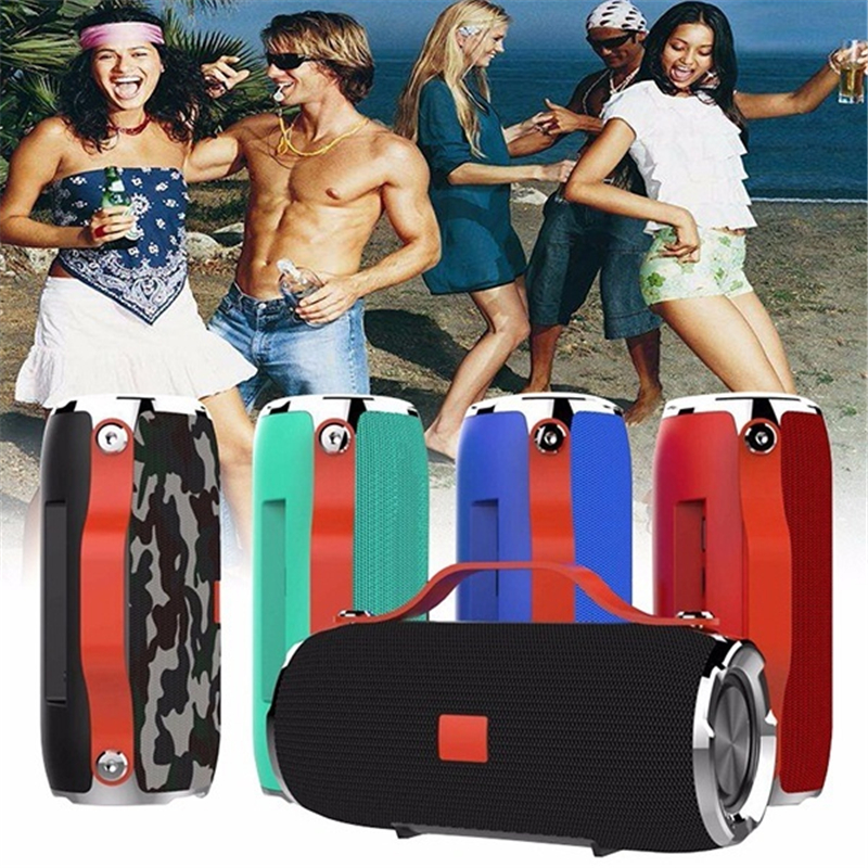 Waterproof Super Bass Outdoor Camping Bluetooth <font><b>Speaker</b></font> Stereo Wireless Sound Box Audio Player With Mic Smart Phones image