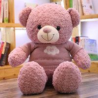 100cm Teddy Bear in Sweater Stuffed Animals Bear Teddy Bear Lovers Birthday Baby Plush Doll Kid Toy